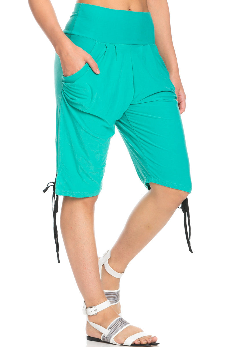 Capri Harem Pants in Mint - Shorts - My Yuccie - 7