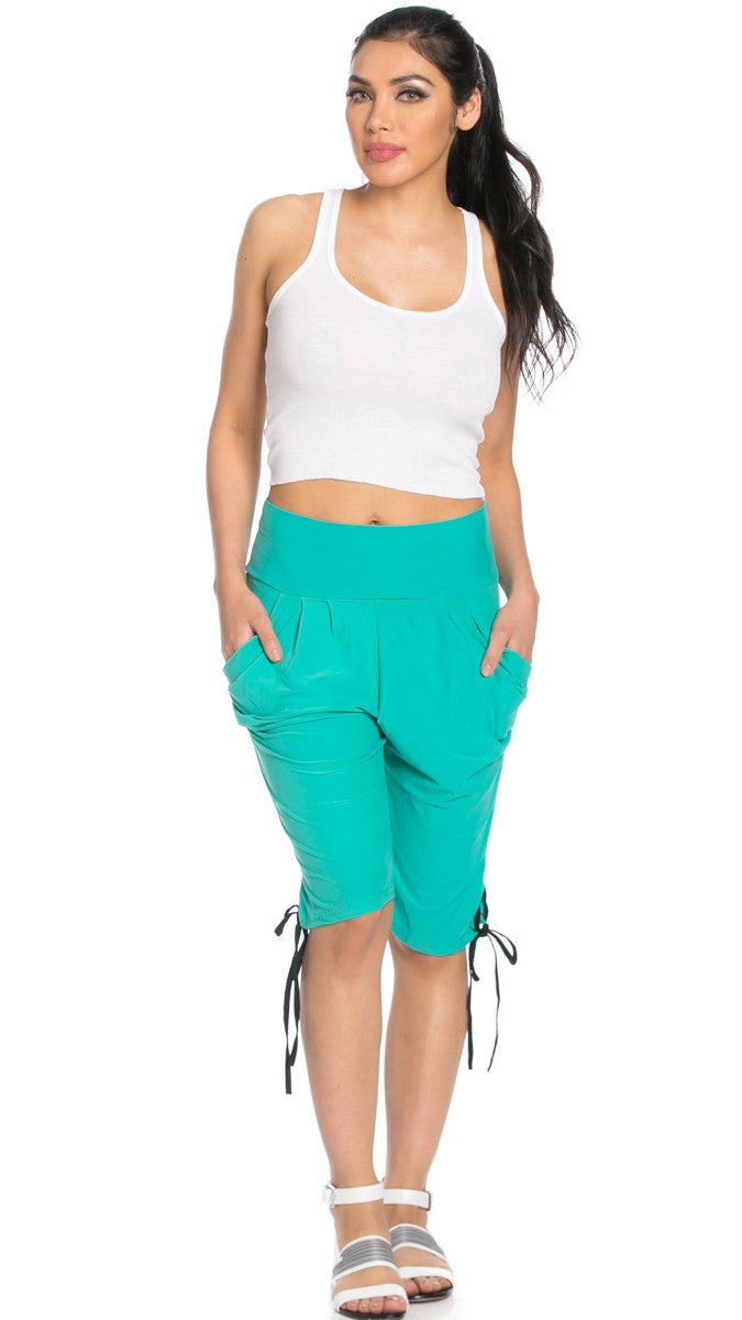 Capri Harem Pants in Mint - Shorts - My Yuccie - 2
