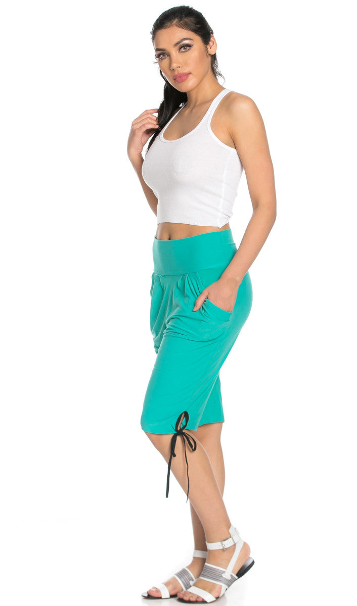 Capri Harem Pants in Mint - Shorts - My Yuccie - 3