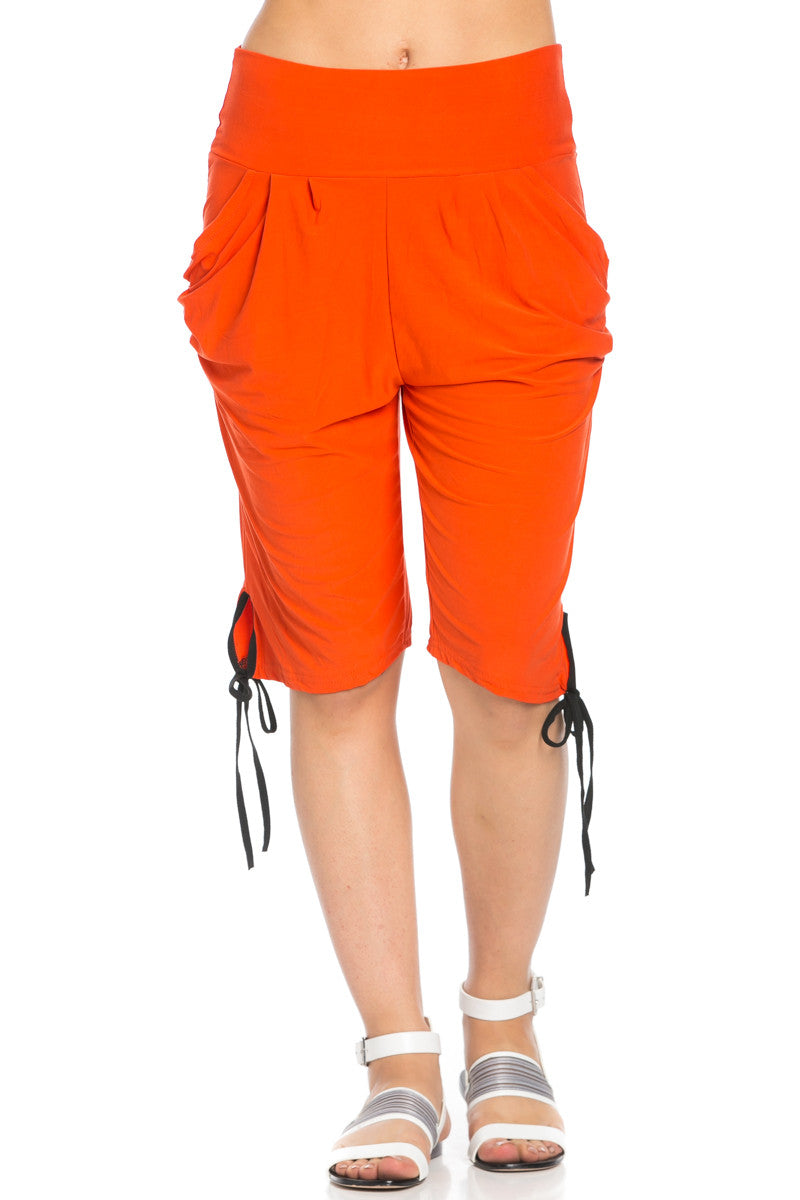 Capri Harem Pants in Orange - Shorts - My Yuccie - 4
