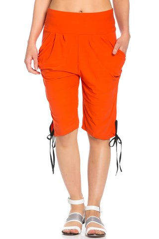 Capri Harem Pants in Orange - Shorts - My Yuccie - 1