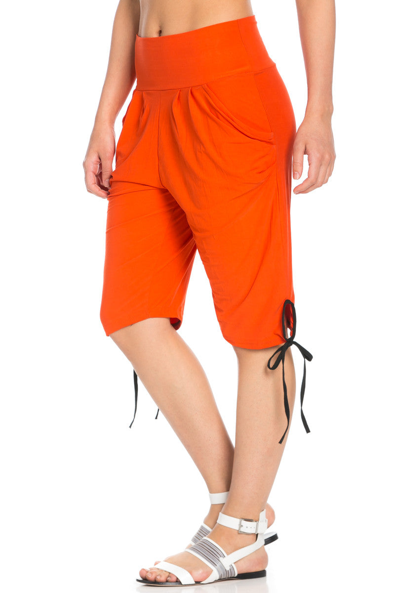 Capri Harem Pants in Orange - Shorts - My Yuccie - 5