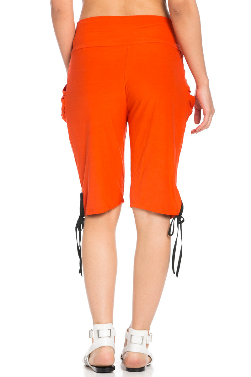 Capri Harem Pants in Orange - Shorts - My Yuccie - 6