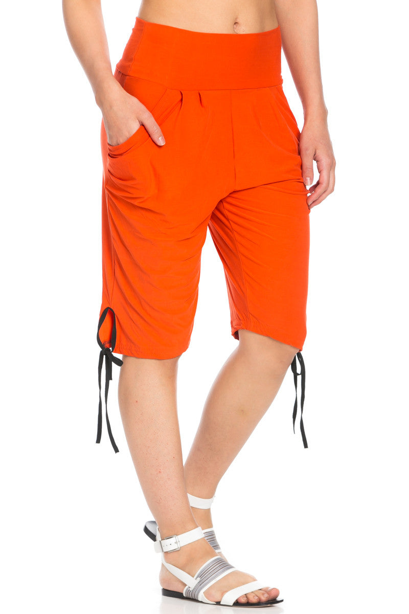 Capri Harem Pants in Orange - Shorts - My Yuccie - 7