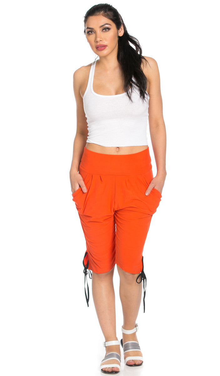 Capri Harem Pants in Orange - Shorts - My Yuccie - 3