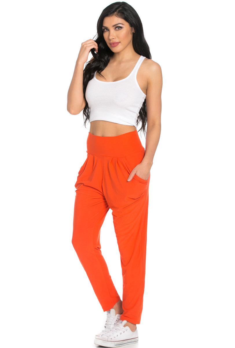 Orange Cozy Harem Jogger Pants - Jogger Pants - My Yuccie - 2