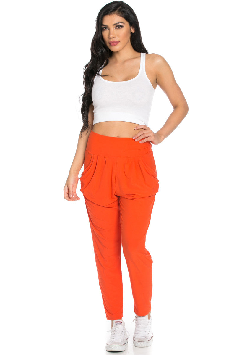 Orange Cozy Harem Jogger Pants - Jogger Pants - My Yuccie - 3