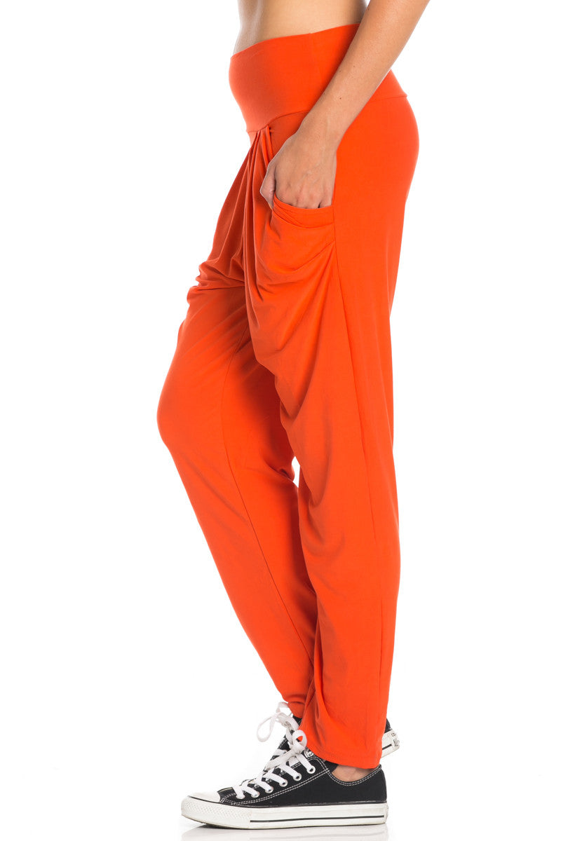 Orange Cozy Harem Jogger Pants - Jogger Pants - My Yuccie - 7