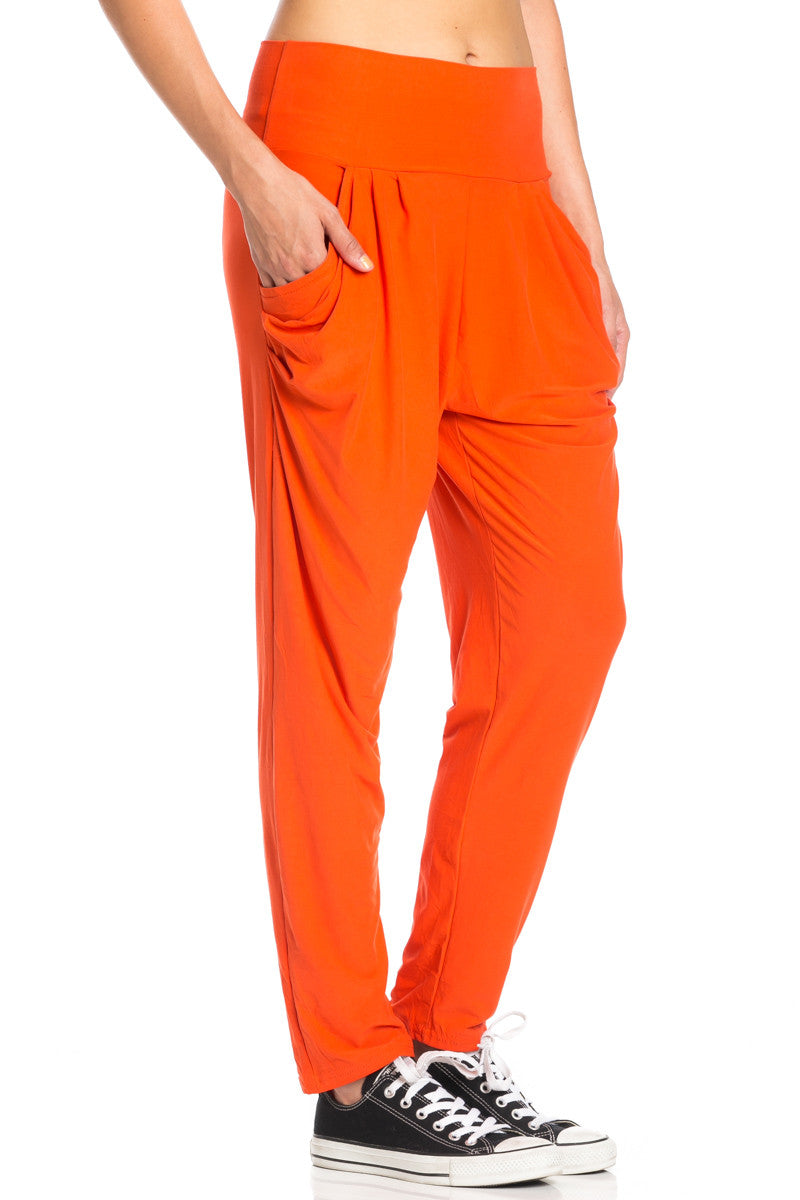 Orange Cozy Harem Jogger Pants - Jogger Pants - My Yuccie - 9