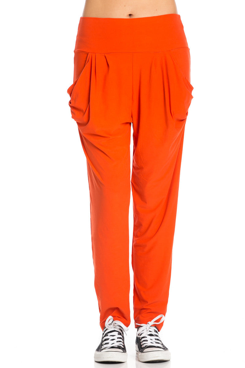 Orange Cozy Harem Jogger Pants - Jogger Pants - My Yuccie - 4