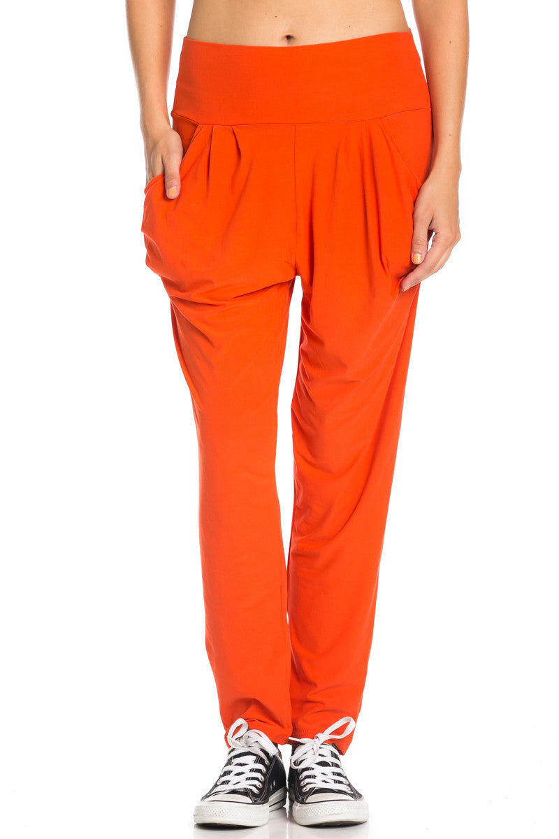 Orange Cozy Harem Jogger Pants - Jogger Pants - My Yuccie - 5