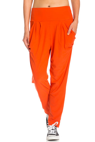Orange Cozy Harem Jogger Pants - Jogger Pants - My Yuccie - 1