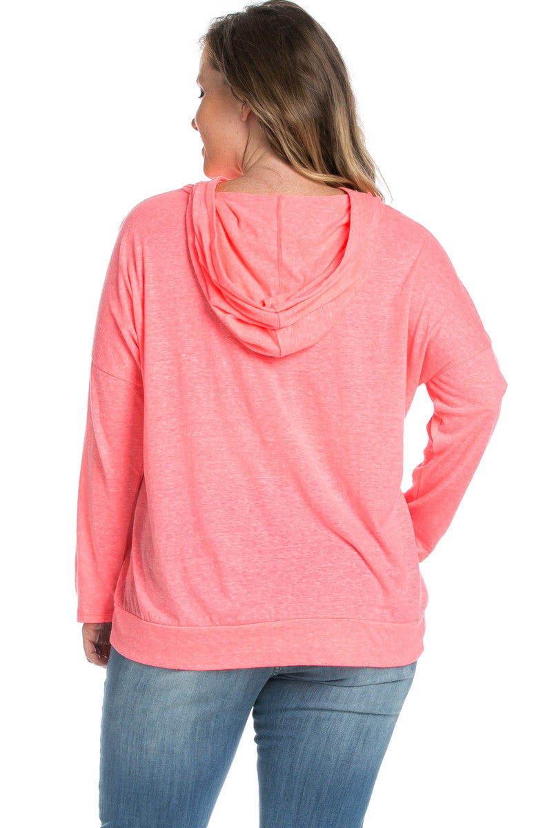 Love Neon Pink Hoodie Sweater Top - Sweaters - My Yuccie - 4