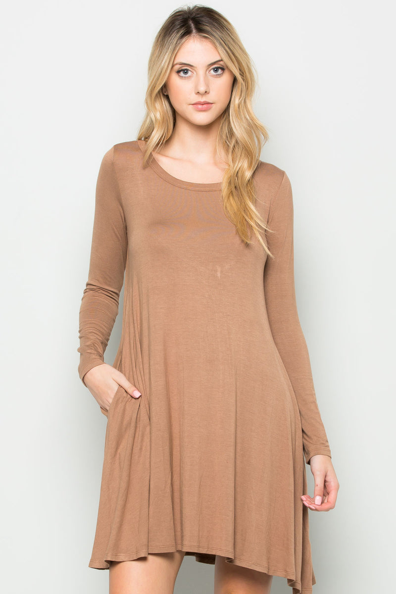 Java Long Sleeve Open Back Swing Dress - Dresses - My Yuccie - 6