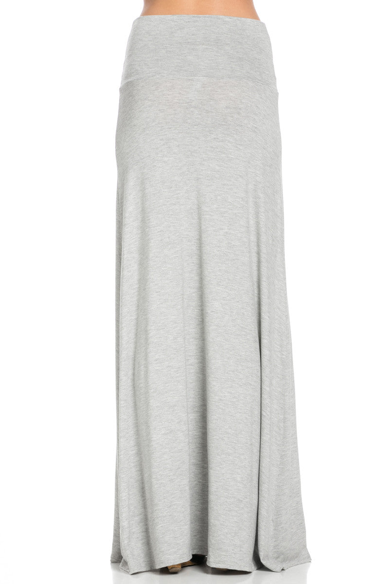 Fold Over Two-Way Maxi Skirt Heather Grey - Skirts - My Yuccie - 4