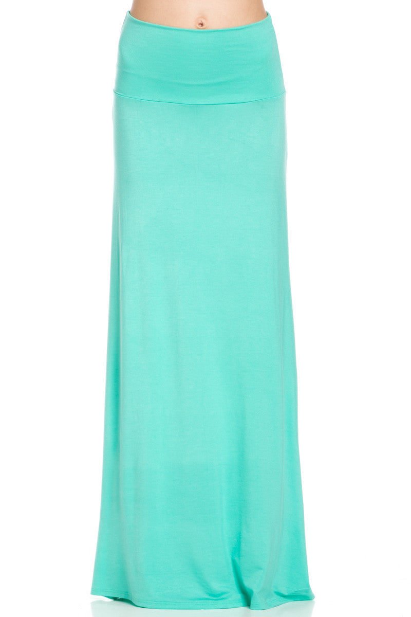 Fold Over Two-Way Maxi Skirt Mint - Skirts - My Yuccie - 1