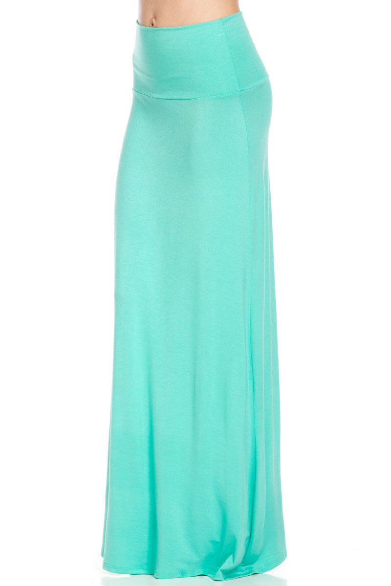 Fold Over Two-Way Maxi Skirt Mint - Skirts - My Yuccie - 2