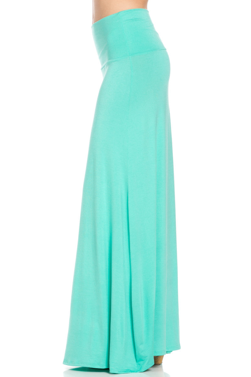 Fold Over Two-Way Maxi Skirt Mint - Skirts - My Yuccie - 3