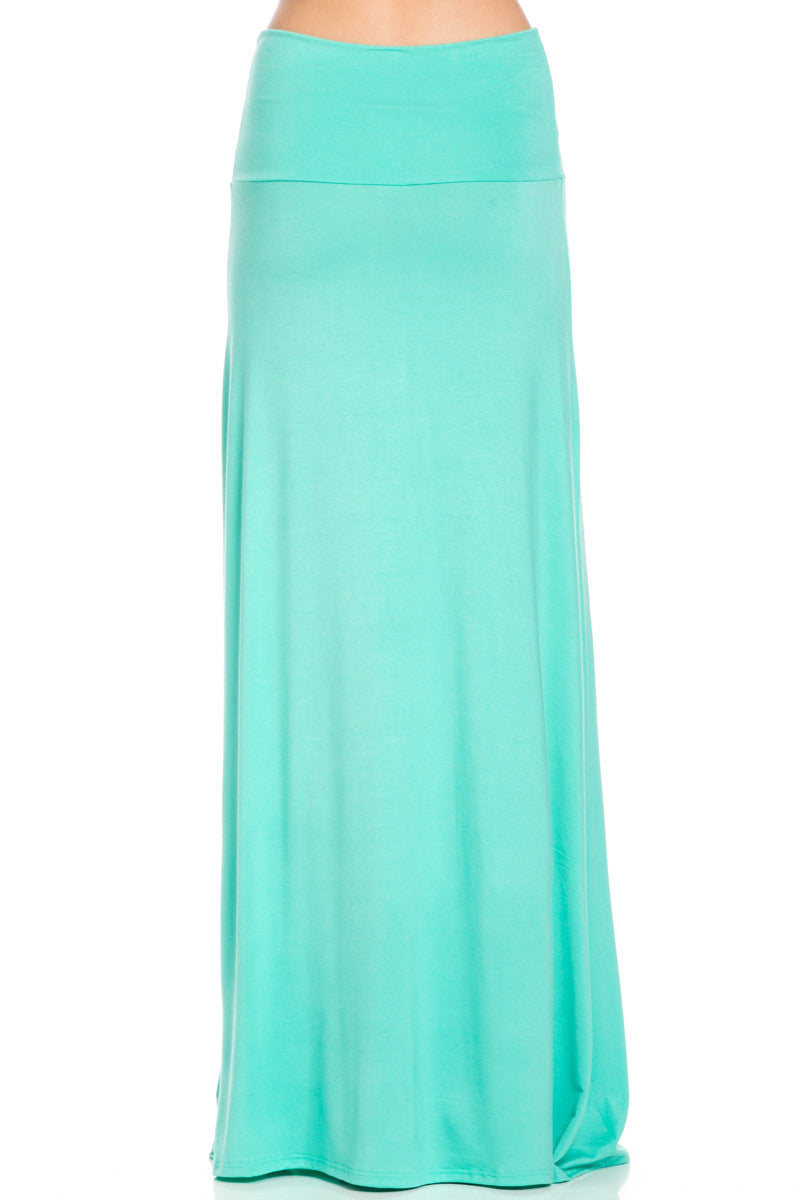 Fold Over Two-Way Maxi Skirt Mint - Skirts - My Yuccie - 4
