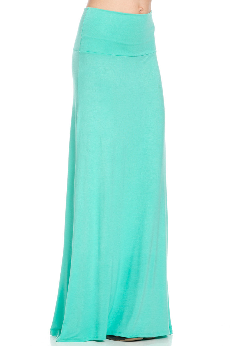 Fold Over Two-Way Maxi Skirt Mint - Skirts - My Yuccie - 5