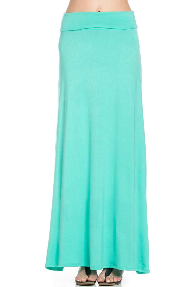 Fold Over Two-Way Maxi Skirt Mint - Skirts - My Yuccie - 6