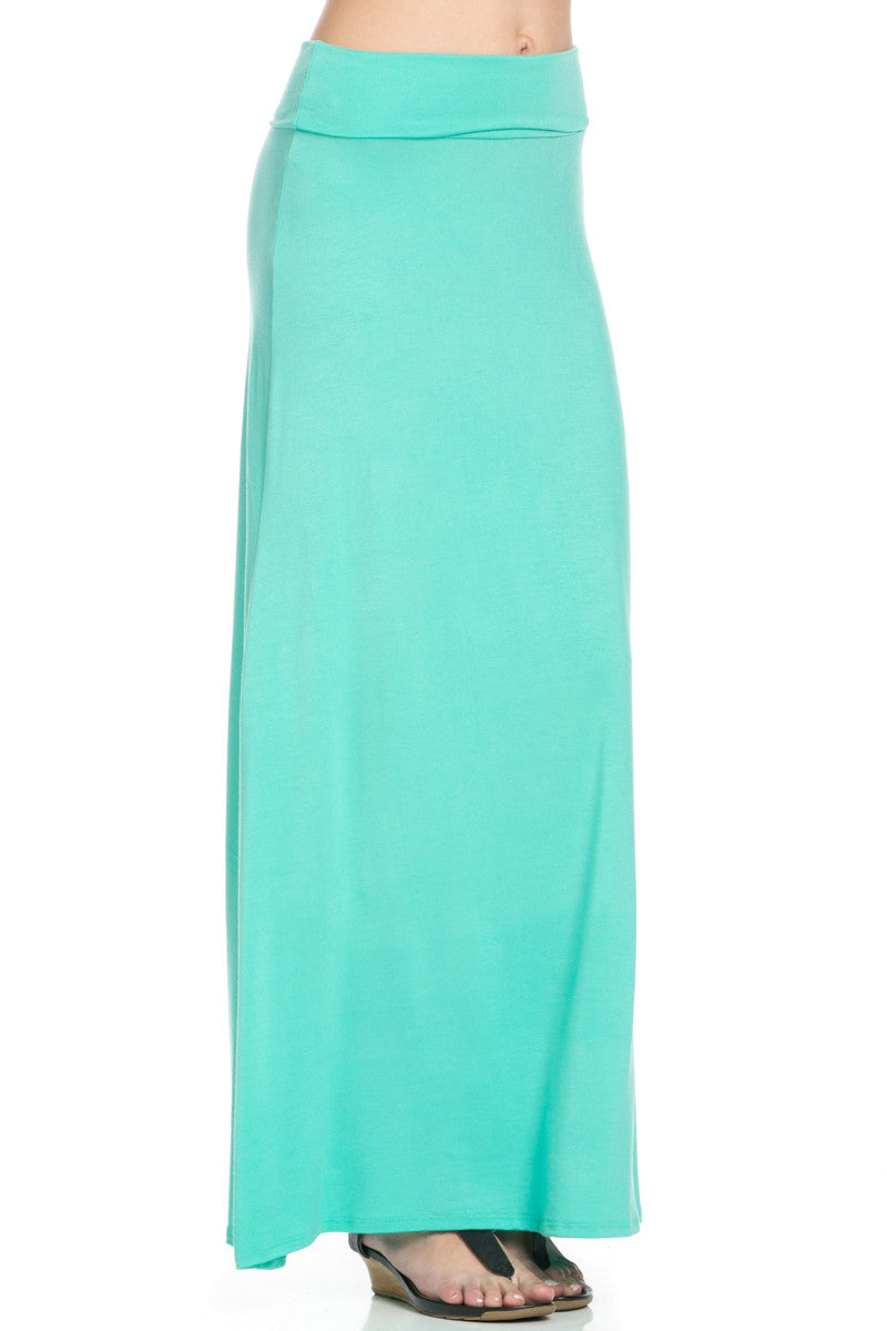 Fold Over Two-Way Maxi Skirt Mint - Skirts - My Yuccie - 7