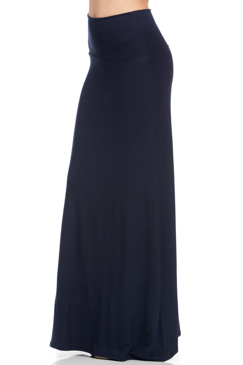 Fold Over Two-Way Maxi Skirt Navy - Skirts - My Yuccie - 2