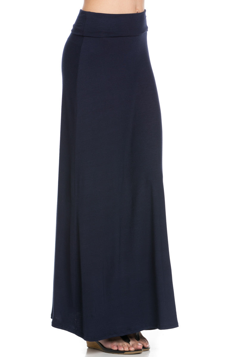 Fold Over Two-Way Maxi Skirt Navy - Skirts - My Yuccie - 7