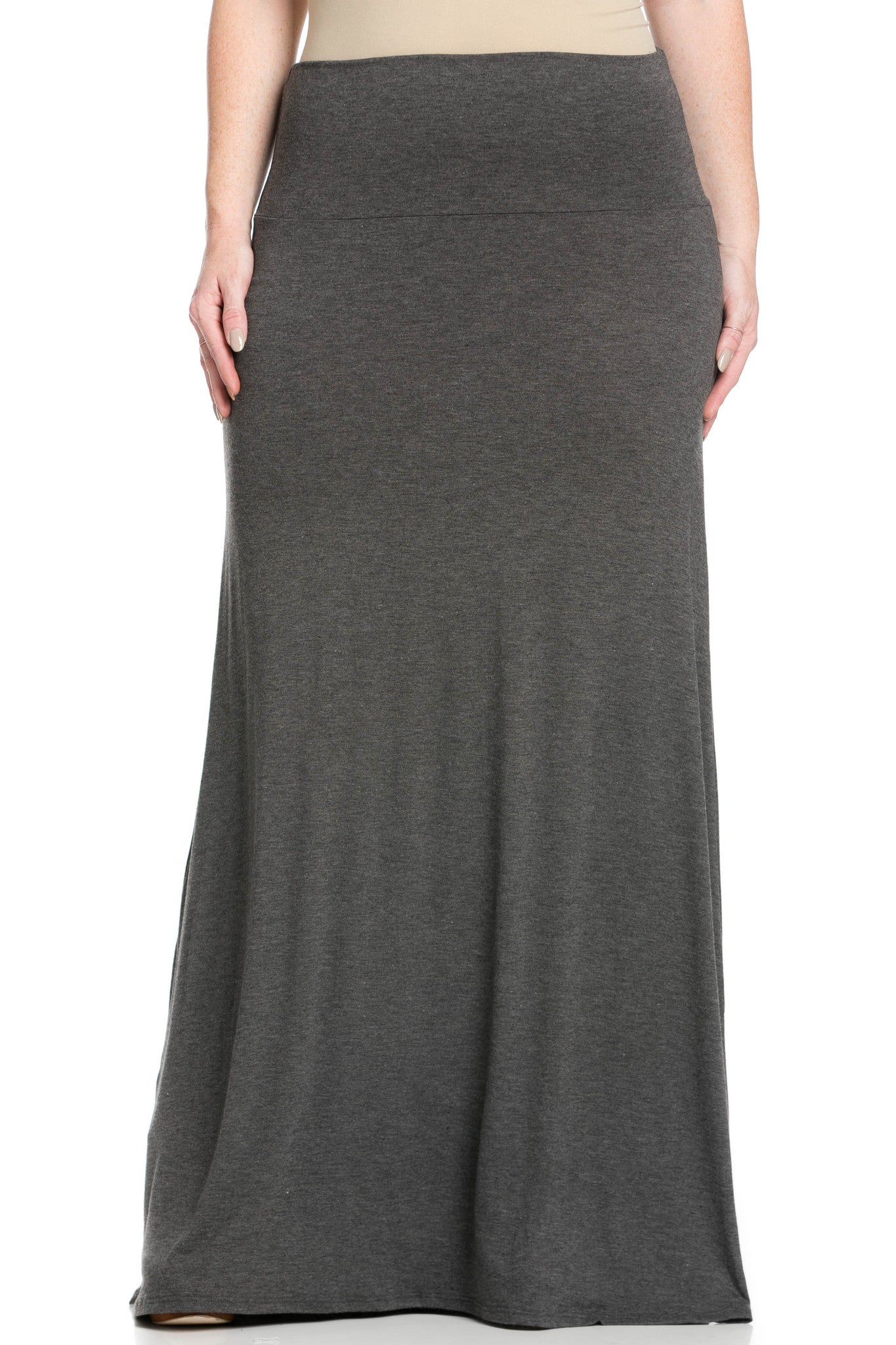 Fold Over Two-Way Maxi Skirt Charcoal - Skirts - My Yuccie - 8