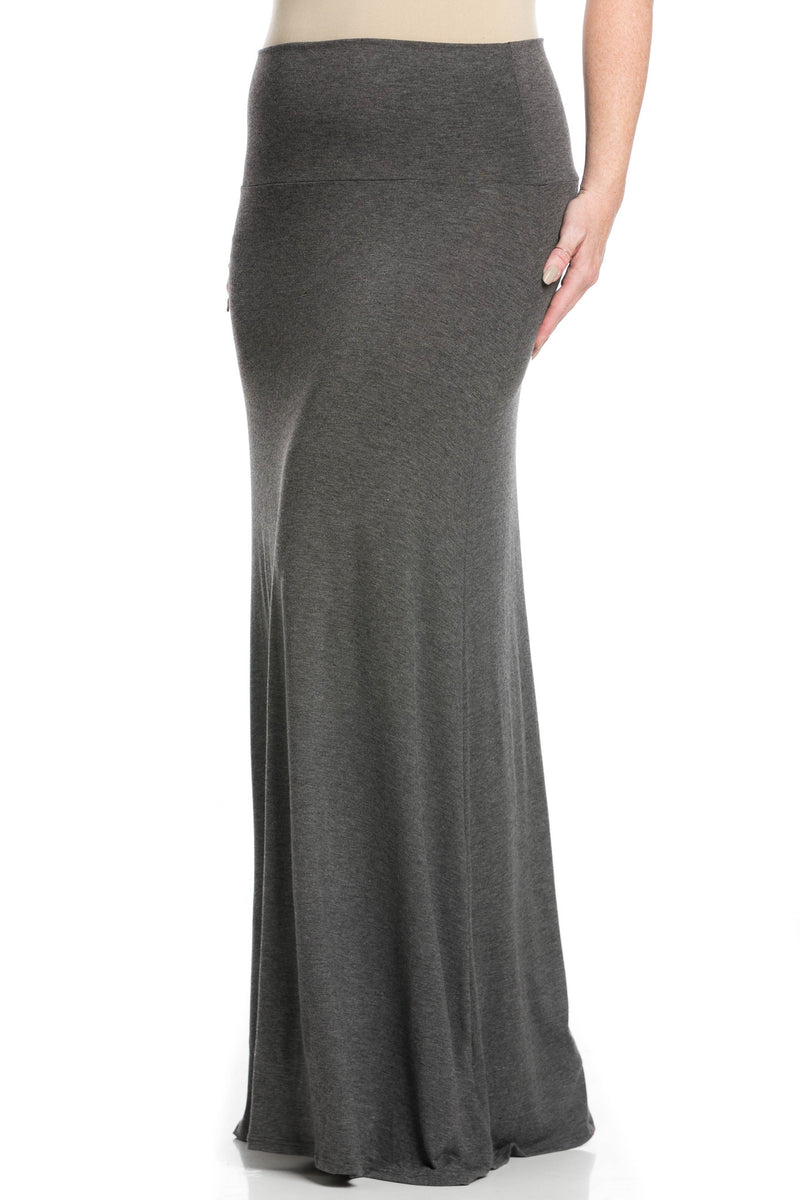 Fold Over Two-Way Maxi Skirt Charcoal - Skirts - My Yuccie - 9
