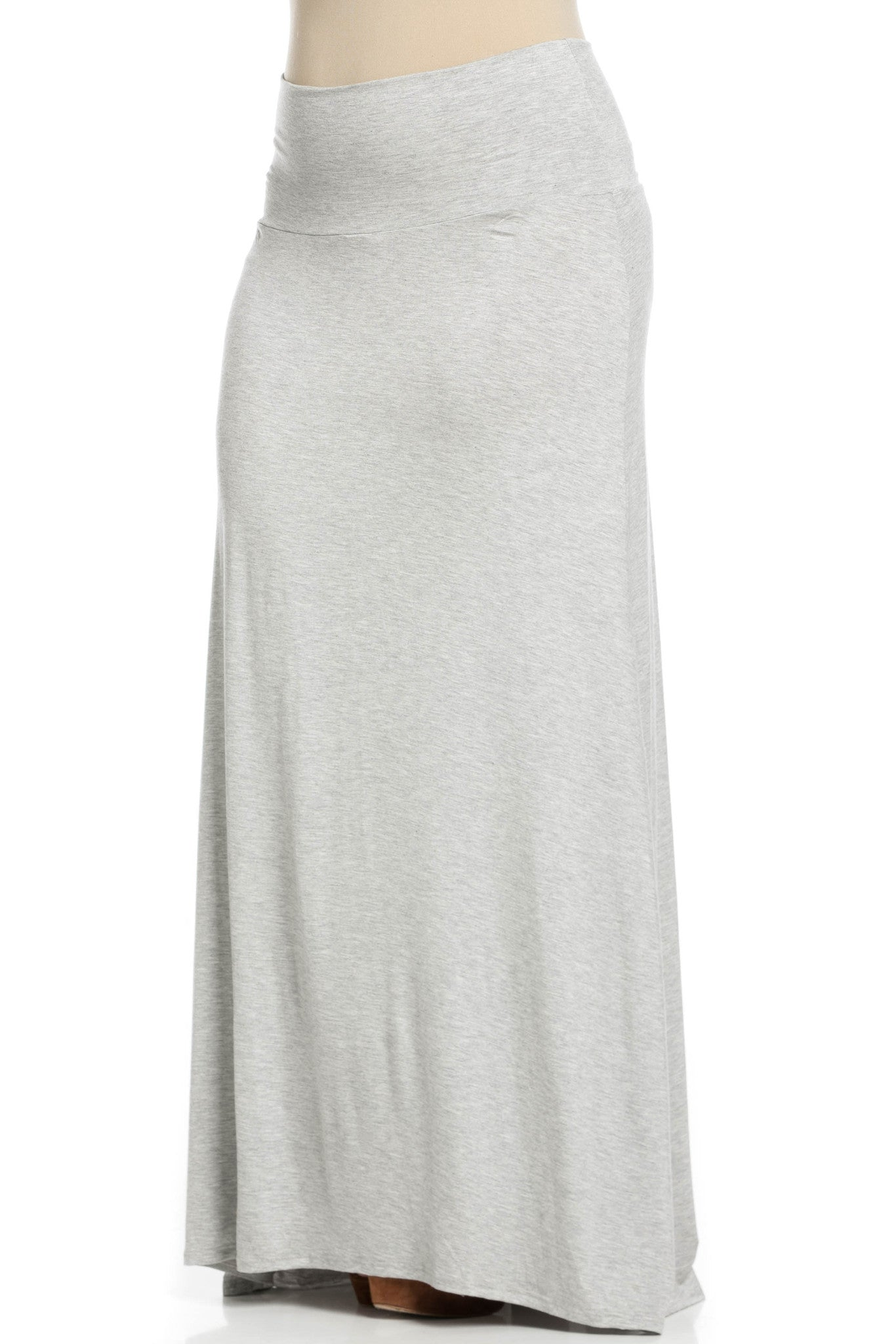 Fold Over Two-Way Maxi Skirt Heather Grey - Skirts - My Yuccie - 10