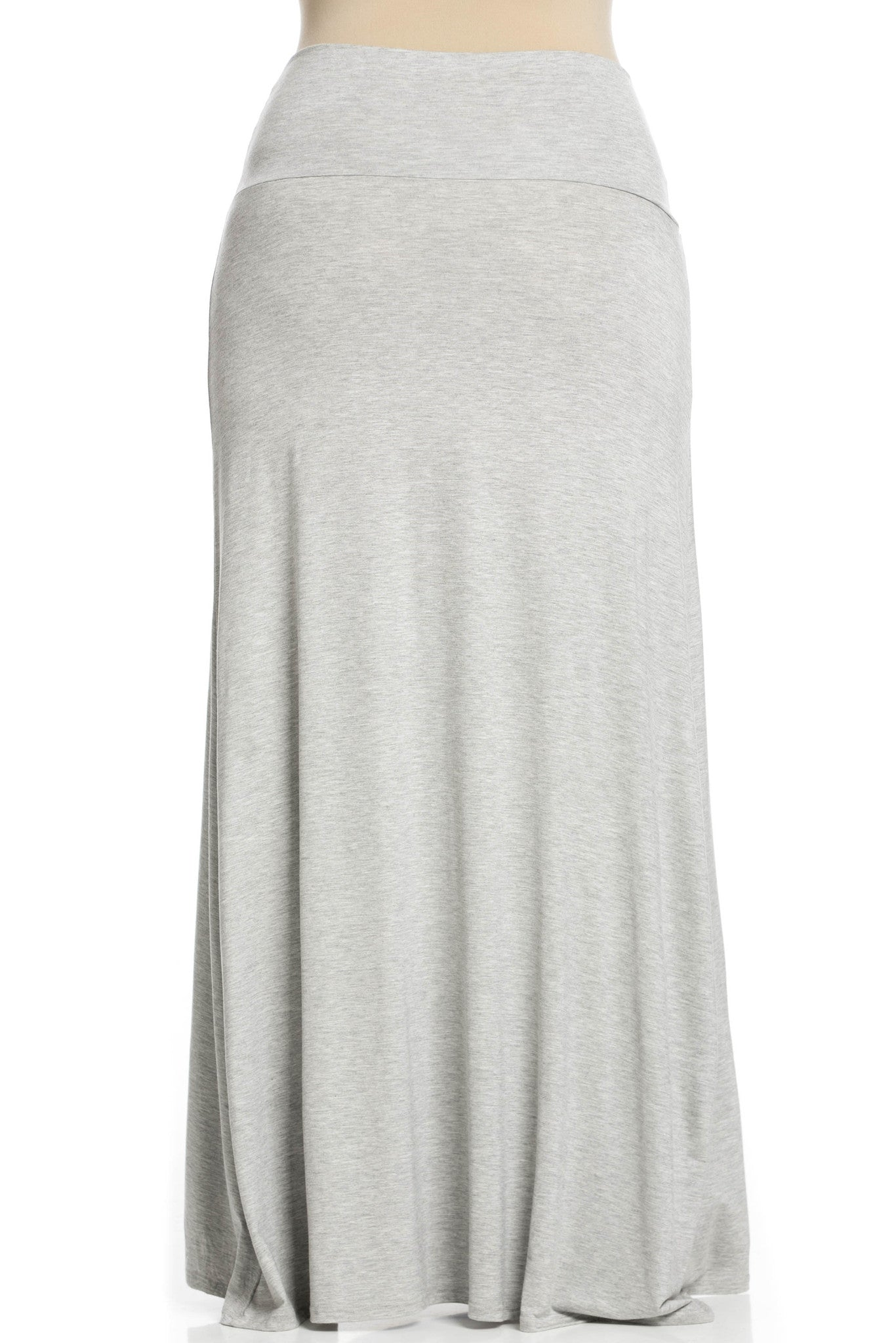 Fold Over Two-Way Maxi Skirt Heather Grey - Skirts - My Yuccie - 12