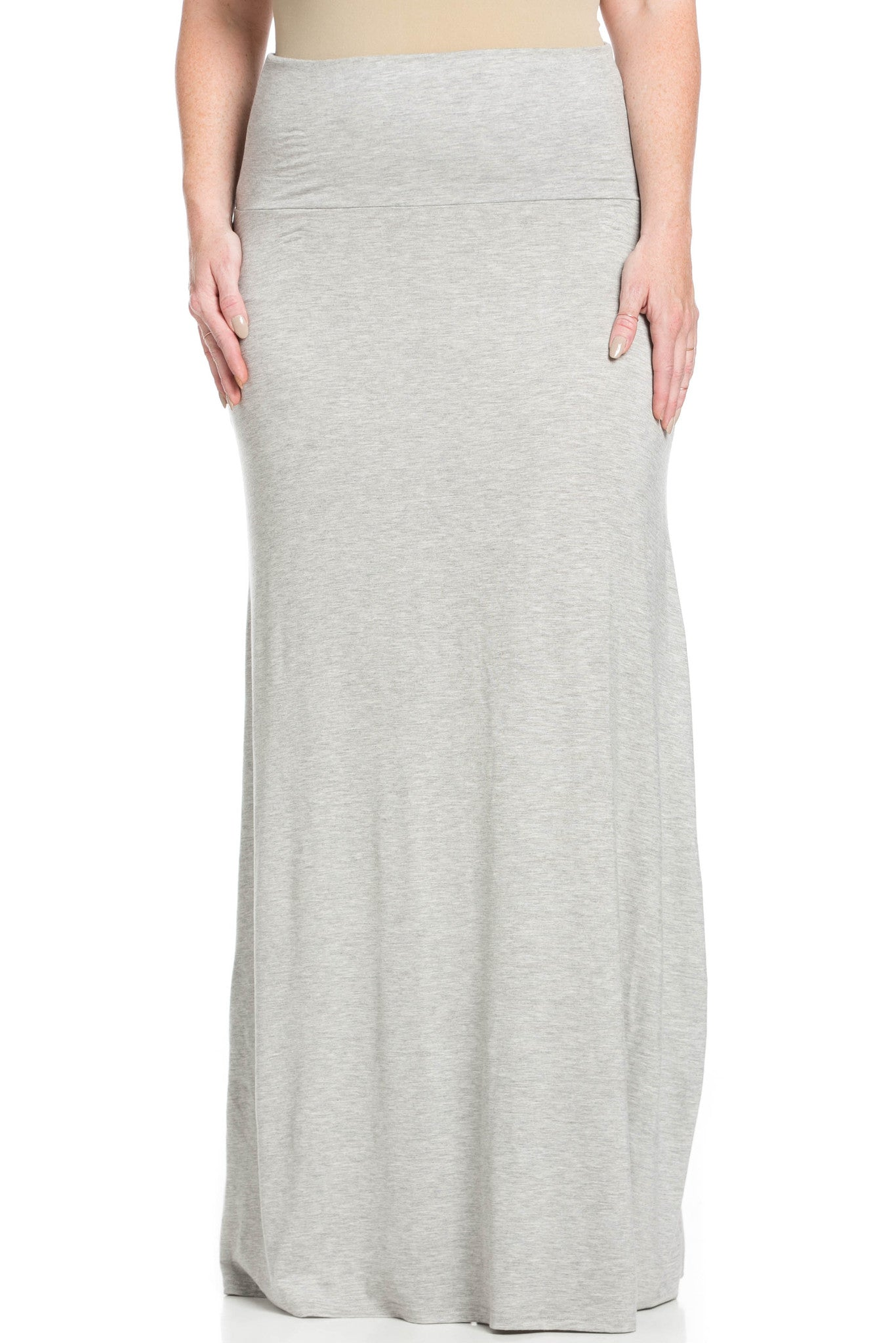 Fold Over Two-Way Maxi Skirt Heather Grey - Skirts - My Yuccie - 8