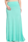 Fold Over Two-Way Maxi Skirt Mint - Skirts - My Yuccie - 8