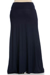 Fold Over Two-Way Maxi Skirt Navy - Skirts - My Yuccie - 12