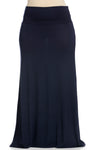 Fold Over Two-Way Maxi Skirt Navy - Skirts - My Yuccie - 11