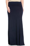 Fold Over Two-Way Maxi Skirt Navy - Skirts - My Yuccie - 9