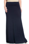 Fold Over Two-Way Maxi Skirt Navy - Skirts - My Yuccie - 10