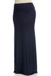 Fold Over Two-Way Maxi Skirt Navy - Skirts - My Yuccie - 13