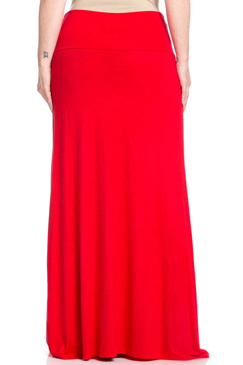 Fold Over Two-Way Maxi Skirt Red - Skirts - My Yuccie - 11