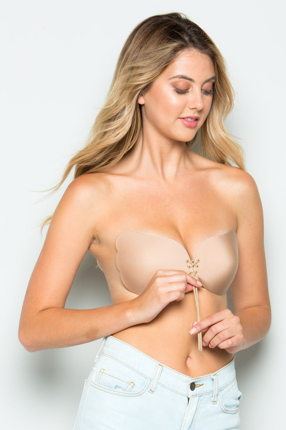 STRAPLESS BRA SELF ADHESIVE SILICONE_ D CUP