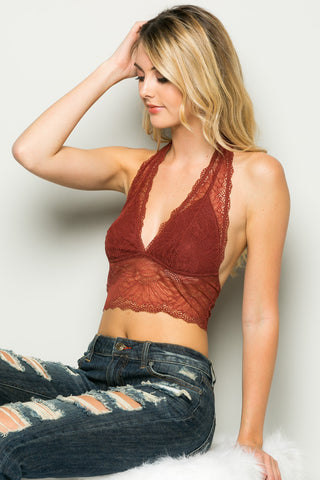 RUST Bee Wrapped In Sunflowers Halter Bralette - Bralette - My Yuccie - 1