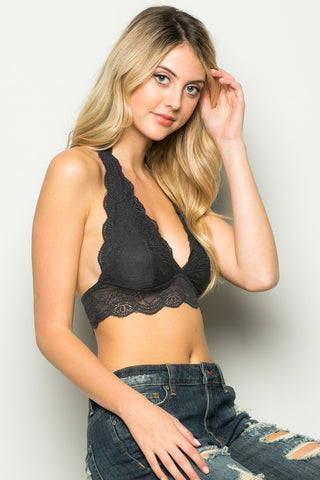 Charcoal Like Pearls Around My Neck Halter Bralette - Bralette - My Yuccie - 1