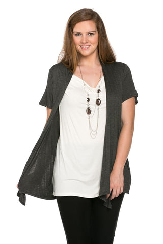 Best of Both Cardigan Top Plus Size - Tops - My Yuccie - 1