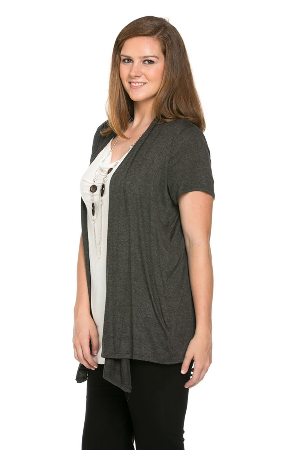 Best of Both Cardigan Top Plus Size - Tops - My Yuccie - 2