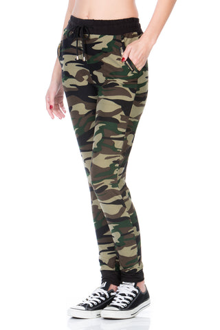 CAMO Jogger Pants with Zipper Side Pockets