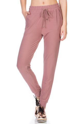 Comfy Jogger Pants With Zipper Side Pockets