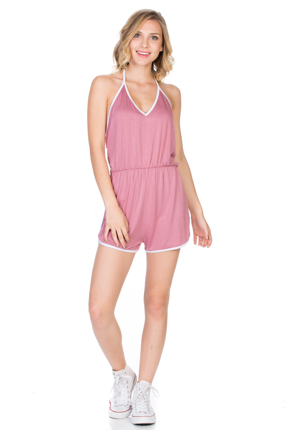 Halter-Neck Wild Open Back Summer Jumpsuit Rompers