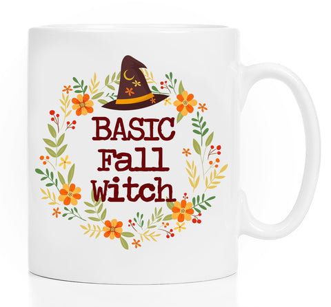 Coffee Mug - Fall Mug - Autumn Mug - Basic Witch - Funny Mug For Girls - Witches Brew Coffee Mug - Halloween Mug