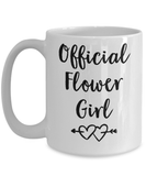 Coffee Mug - Flower Girl Gifts - Flower Girl Gift - Flower Girl Gifts For Toddlers - Flower Girl Gift Ideas - Cute Flower Girl Gifts - Flower Girl Wedding Gift - White Coffee Mug
